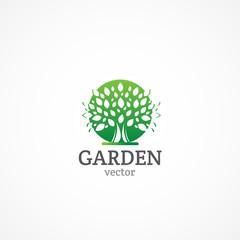 Decorative Green Garden logo.