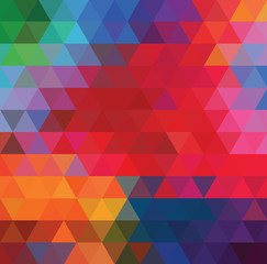 Bright geometric background of colored triangles