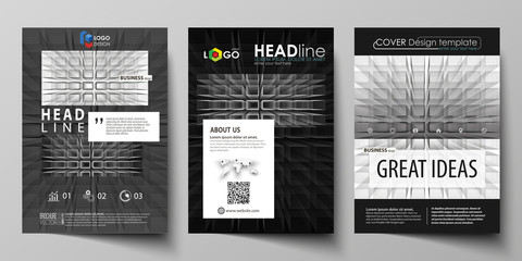 Business templates for brochure, magazine, flyer, booklet, report. Cover design template, vector layout in A4 size. Abstract infinity background, 3d structure, rectangles forming illusion of depth.