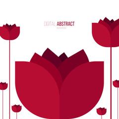 Red Flower - Illustration - Vector Image