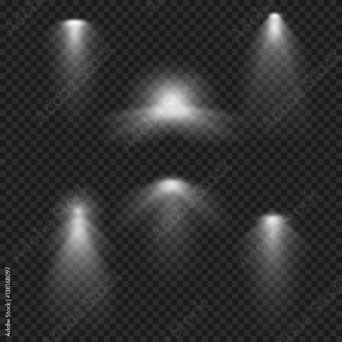 Realistic light effect  Ies lights from projector  Artificial and