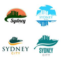 Sydney Australia City Landscape Cityscape Skyline Logo