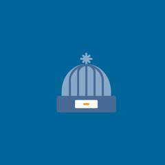 winter hat icon flat design