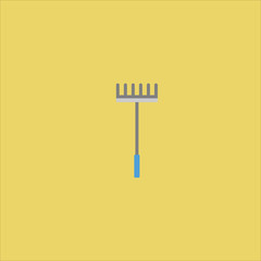rake icon flat design