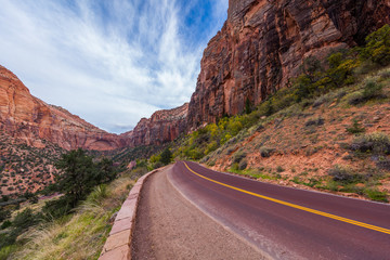 Zion-Mount Carmel Highway, Zion National Park, Utah, USA
