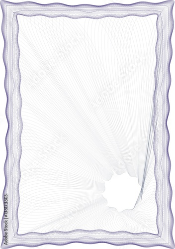 Frame Blank Template For A Certificate Or Diploma Stock Photo And