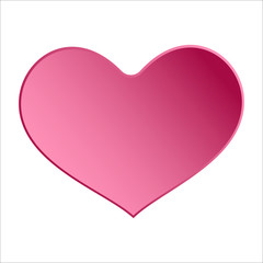 Pink heart icon