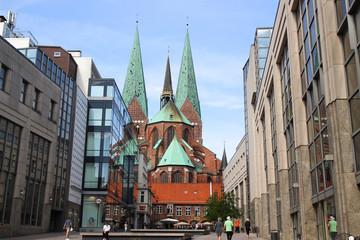 Lübeck, Altstadt, St. Marien Kirche, Schrangen