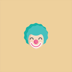 clown icon flat design