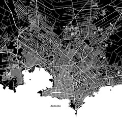 Montevideo One Color Map