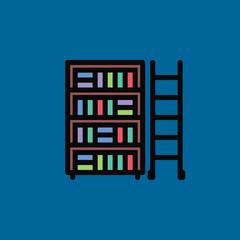 library icon fat design