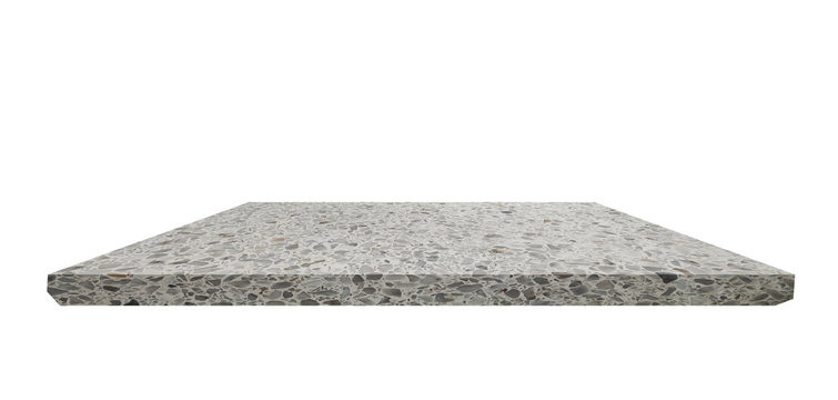 Shelf  Terrazzo floor on white background