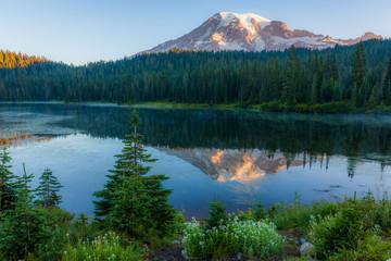 Mount Rainier National Park, Reflection Lake, Summer