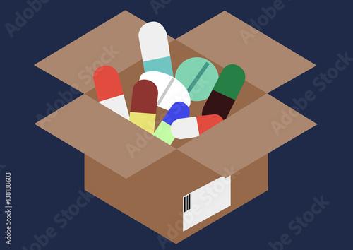versand von medikamenten stockfotos und lizenzfreie