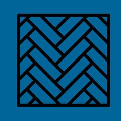 parquet icon flat design