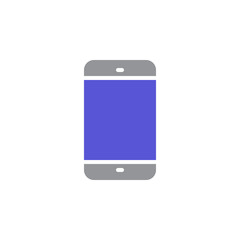 Smartphone icon vector, filled flat sign, solid colorful pictogram isolated on white. Mobile phone symbol, logo illustration