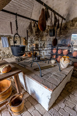 Old kitchen from the Szigliget castle in Hungary