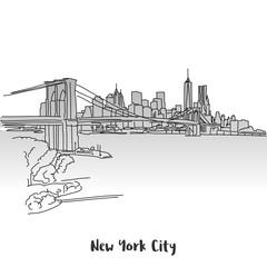 NYC Skyline Greeting Card Design