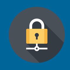 padlock icon flat design