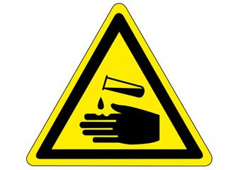 Schild Gefahr durch Säure