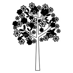 silhouette trees icon stock, vector illustration design image
