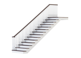 Canvas Prints Stairs Stairs on white background. 3D rendering.