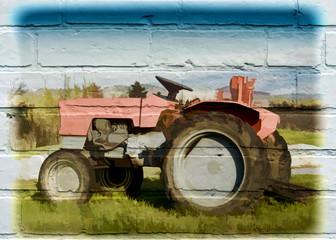 Street art, tracteur agricole