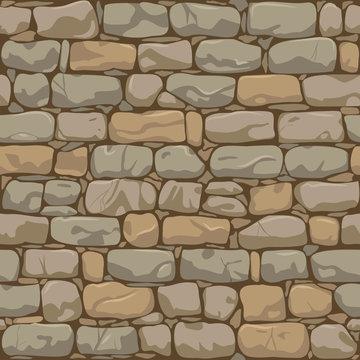 Old brick wall seamless pattern