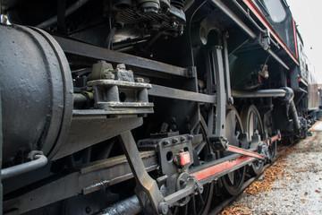Old veteran refit locomotive exposed to admiration