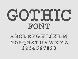 Gothic font. Serif antique. Traditional ancient manuscripts alphabet
