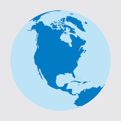 North America, World, earth, globe, planet, map, continent, geography, universe, blue