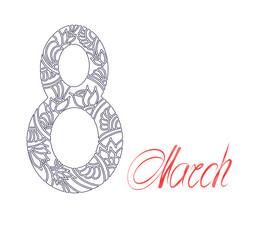 The international women's day design background. Vector illustration hand drawn