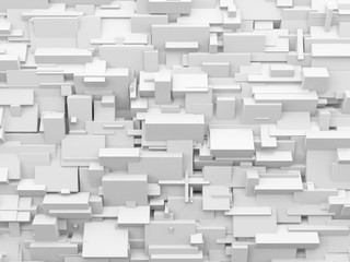 White geometric abstract background.