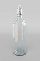 Vintage bottles. 3D illustration
