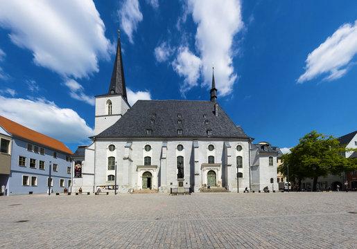 Altstadt von Weimar,Herderplatz mit Stadtkirche Peter und Paul, Weimar, Thüringen, Deutschland