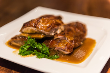 Roasted Duck, Chinese style .