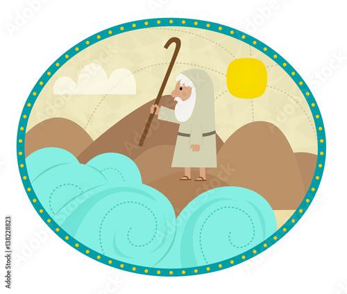 Moses Clip Art Clip Art Of Moses Splitting The Sea Eps10 Stock