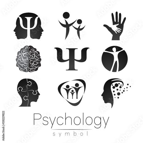 Modern Sign Set Of Psychology Creative Style Icon In