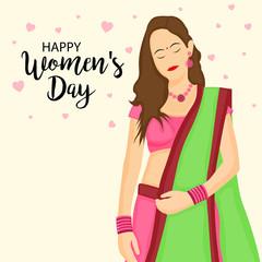 Women Day greeting card