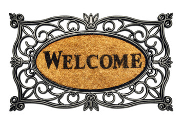 Friendly Welcome Door Mat