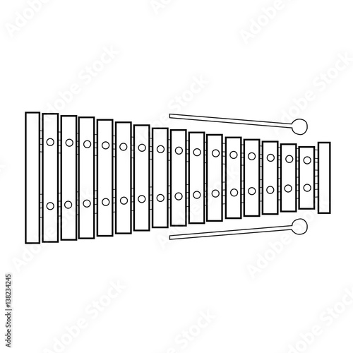 Line Drawing Of Xylophone : The gallery for gt xylophone outline