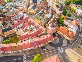 Obraz Lublin - stare miasto z lotu ptaka - fototapety do salonu