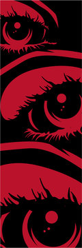 Abstract Spookt Red Eyes