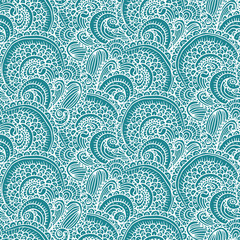 Ethnic tribal abstract seamless background pattern in vector.