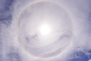 Sun halo phenomenon