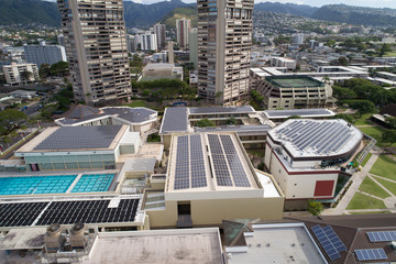 Solar power roof tops