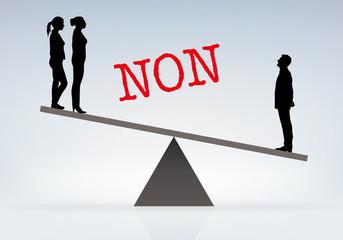 Inégalité - Homme Femme - discrimination - équilibre - balance