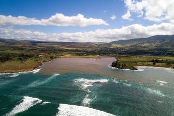 Aerial photo North Shore Oahu Hawaii