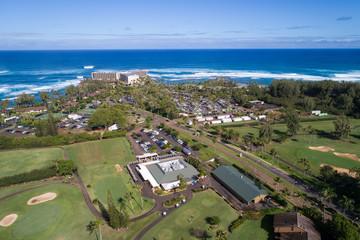 Aerial photo Turtle Bay golf club Oahu Hawaii