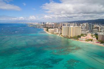 Waikiki Beach Hawaii aerial photo